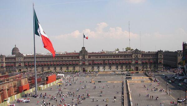 El Zócalo de Ciudad de México, oficialmente Plaza de la Constitución - Sputnik Mundo