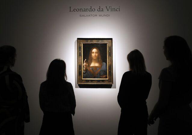 La pintura 'Salvator Mundi' de Leonardo Da Vinci, en exhibición en la casa de subastas Christie de Londres