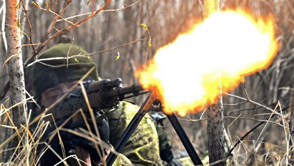 Учения мотострелкового соединения ВВО в Хабаровске - Sputnik Mundo