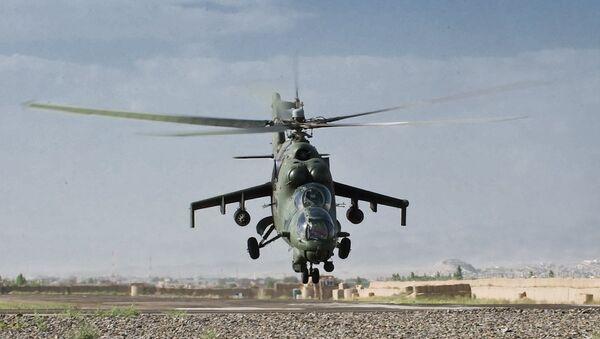 Un Mi-24 de la FFAA de Polonia en Afganistán - Sputnik Mundo