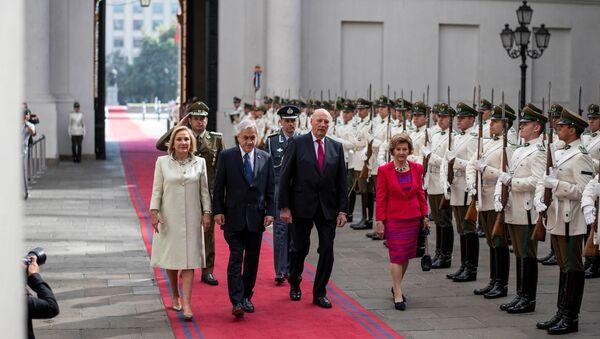 La visita de los reyes noruegos a Chile - Sputnik Mundo
