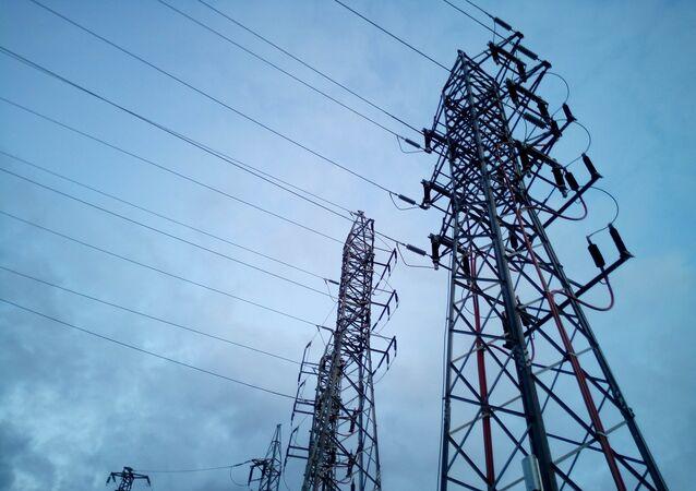 Torres eléctricas de alta tensión