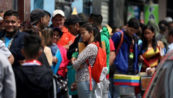 Migrantes venezolanos en Perú (Archivo) - Sputnik Mundo