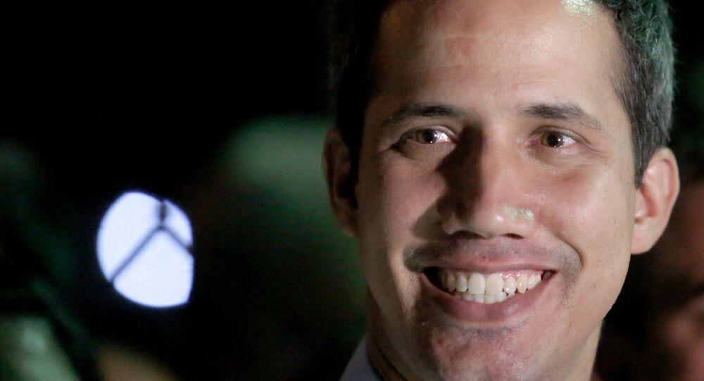 El diputado venezolano opositor, autoproclamado presidente, Juan Guaidó