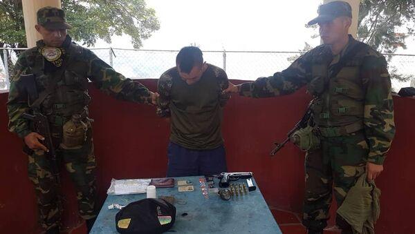 Gerson Yacumal, ciudadano de nacionalidad colombiana aprehendido portando el uniforme de las FANB - Sputnik Mundo
