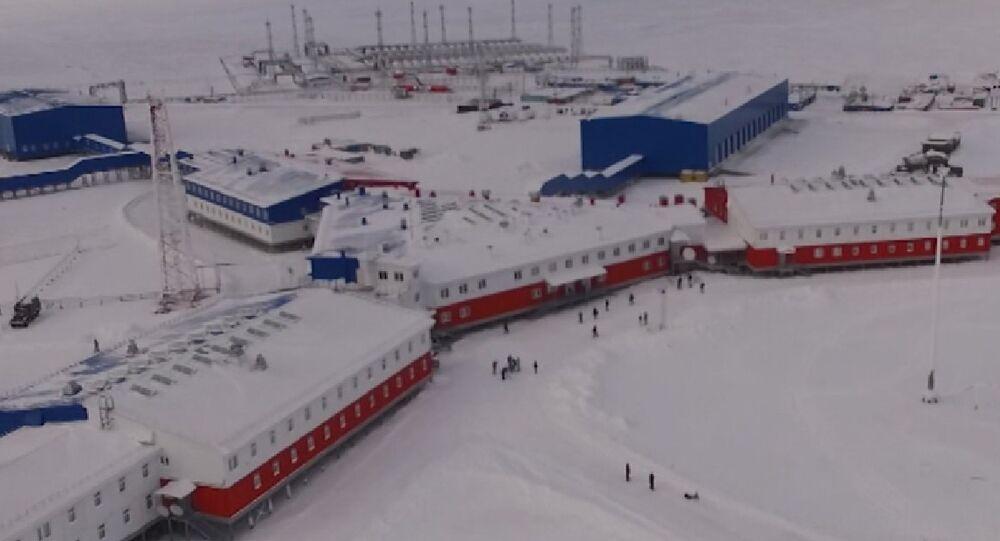 Base militar rusa 'Trébol del Norte', ubicada en la isla de Kotelni en el Ártico
