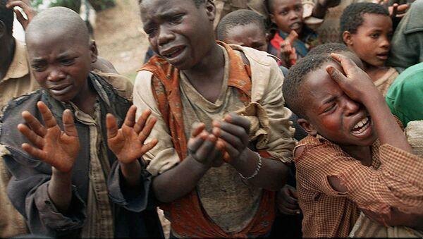 Niños ruandeses en la frontera con Zaire (archivo) - Sputnik Mundo