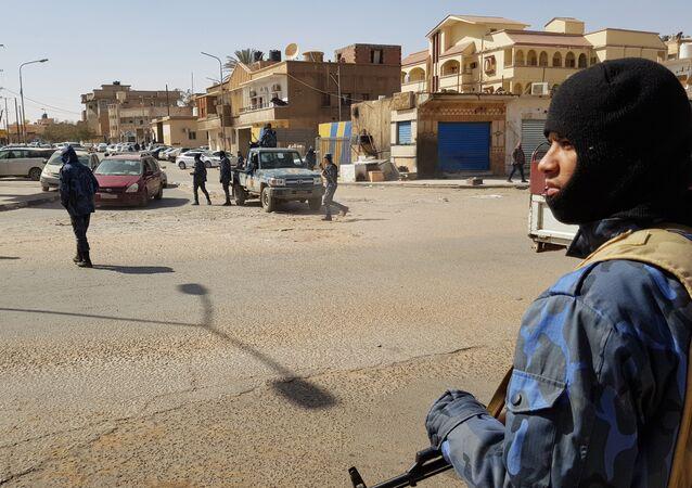 Combatientes del Ejército Nacional Libio (archivo)