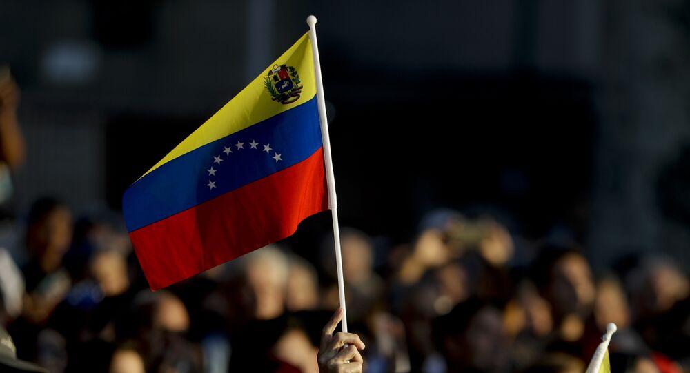 Manifestación en Caracas, Venezuela