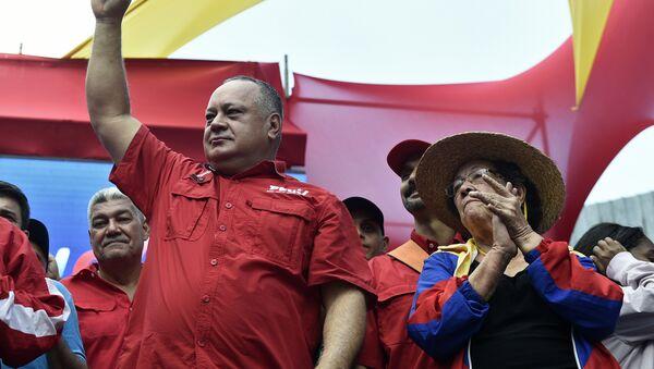 Diosdado Cabello, presidente de la Asamblea Nacional y primer vicepresidente del gobernante Partido Socialista Unido - Sputnik Mundo