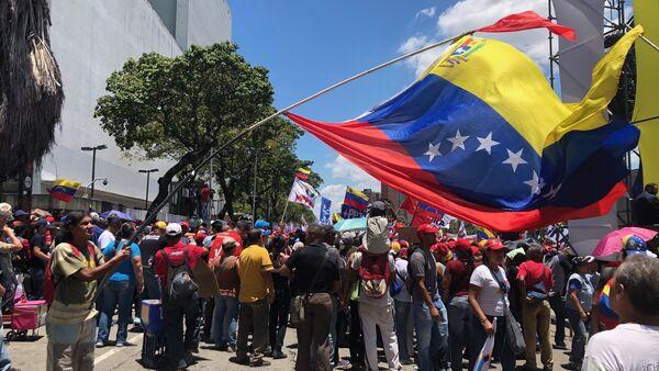 La movilización de los seguidores del Gobierno en Caracas - Sputnik Mundo