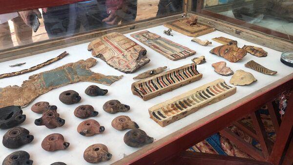 Los hallazgos arqueológicos en una antigua tumba en Egipto (archivo) - Sputnik Mundo