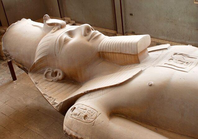 La estatua de un faraón (imagen referencial)