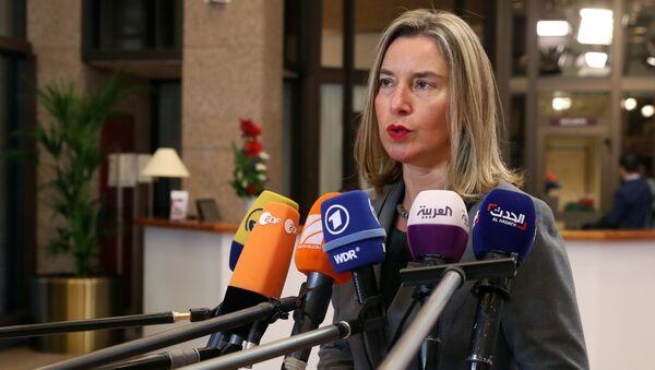 Federica Mogherini, la jefa de la diplomacia europea (archivo) - Sputnik Mundo