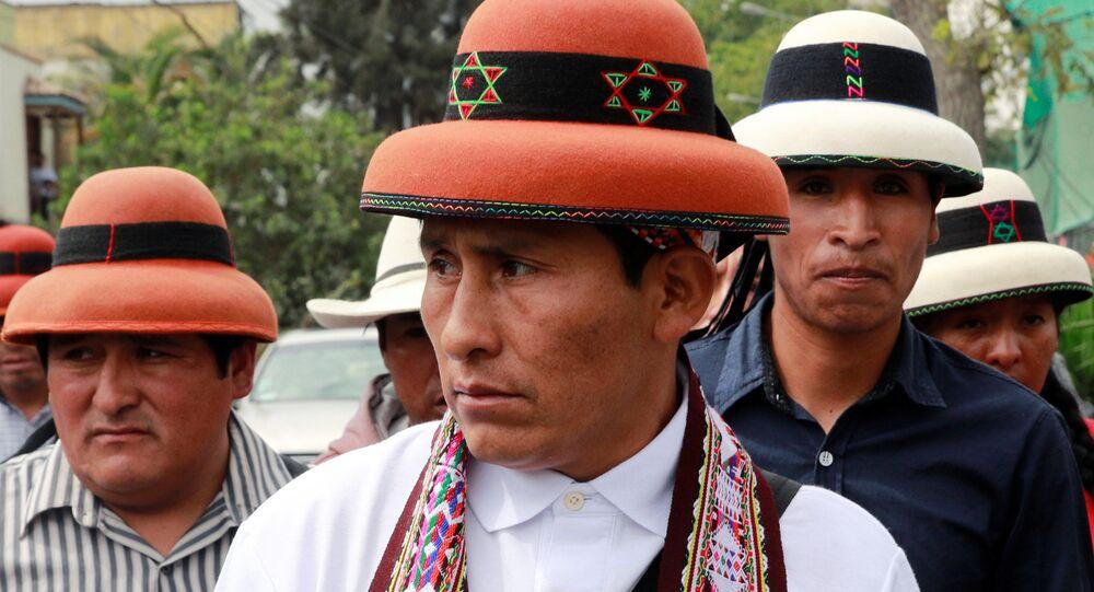 El presidente de la comunidad Fuerabamba, Gregorio Rojas