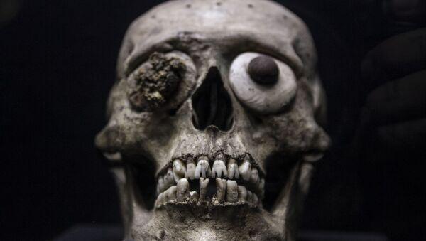 Una de las 15.000 piezas exhibidas en el Museo del Templo Mayor - Sputnik Mundo