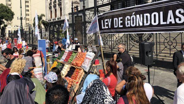 Protesta contra la inflación frente al Congreso de Argentina - Sputnik Mundo