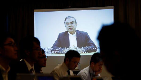 Reproducción de vídeo de Carlos Ghosn, exjefe del consorcio automovilístico Nissan - Sputnik Mundo
