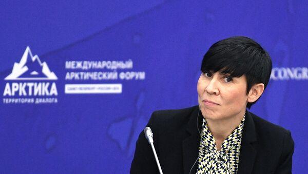 Ine Marie Eriksen Soreide, ministra de Exteriores de Noruega - Sputnik Mundo