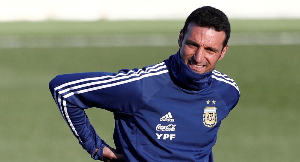 Lionel Scaloni, seleccionador argentino