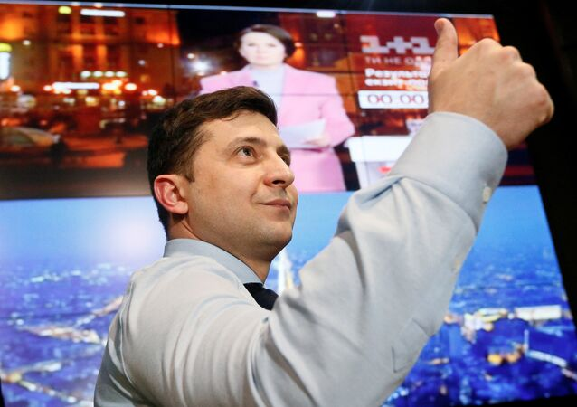 Volodímir Zelenski, candidato a la presidencia de Ucrania