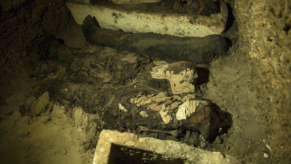 Momias egipcias, foto de archivo - Sputnik Mundo