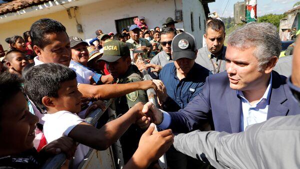 Iván Duque, presidente de Colombia, en Caldono - Sputnik Mundo