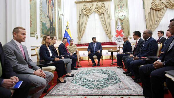 Encuentro de Nicolás Maduro con representantes del CICR - Sputnik Mundo