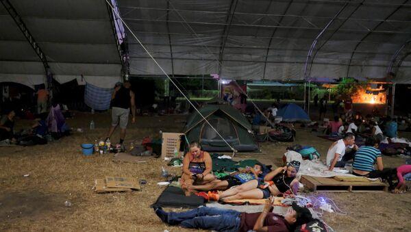 Migrantes centroamericanos en Mapastepec, Chiapas, México - Sputnik Mundo