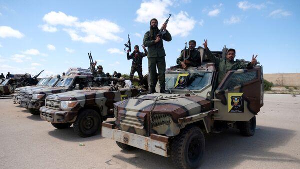 Los militares del Ejército Nacional Libio - Sputnik Mundo