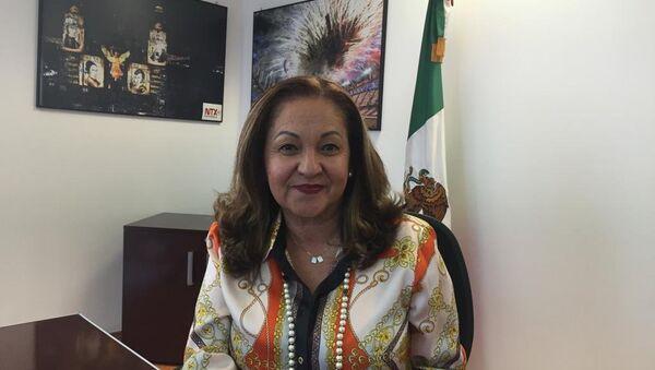 Sanjuana Martínez Montemayor, directora de la agencia de noticias del Estado mexicano - Sputnik Mundo