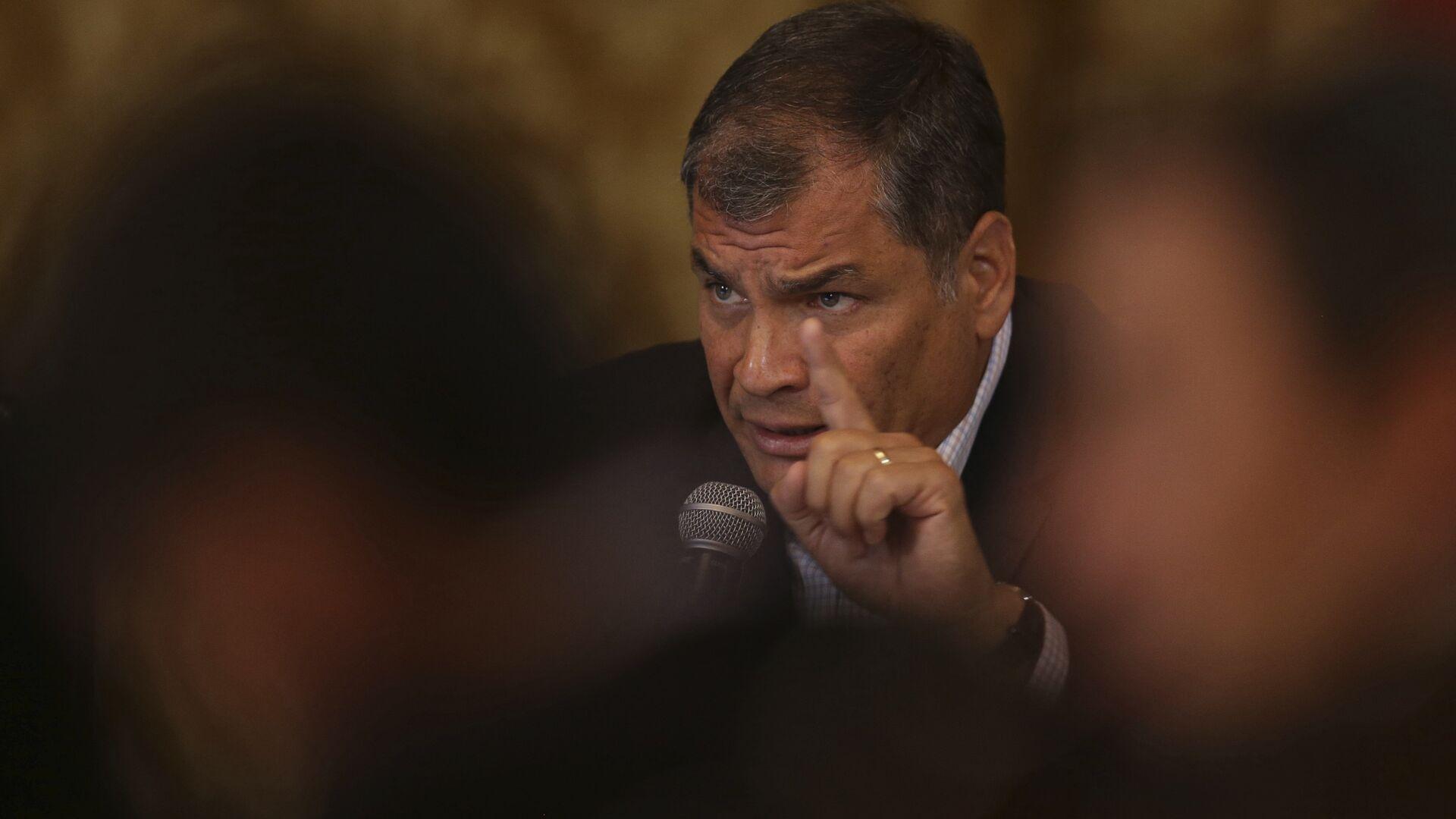 Rafael Correa, expresidente de Ecuador (archivo) - Sputnik Mundo, 1920, 12.06.2021