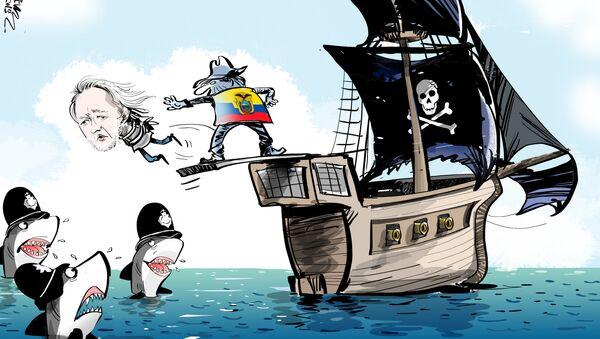 Ecuador echa a patadas a Assange - Sputnik Mundo