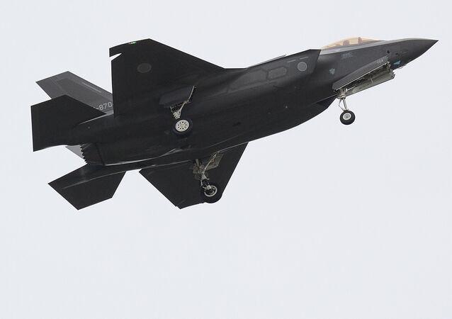 Un F-35A de las Fuerzas Aéreas de Japón