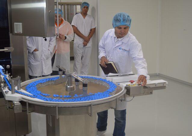 Producción de vacunas en la planta Méchnikov (archivo)