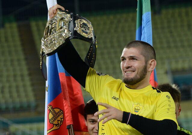 Khabib Nurmagomedov, boxeador ruso de artes marciales