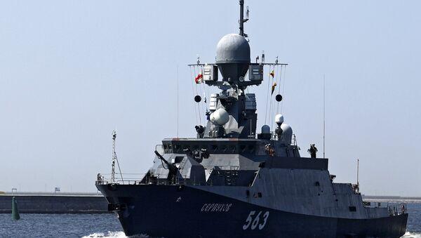 El pequeño buque de misiles Serpukhov - Sputnik Mundo