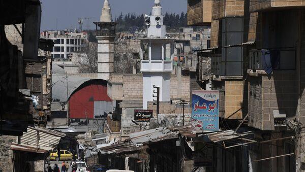 Unas calle en la ciudad siria de Hama - Sputnik Mundo