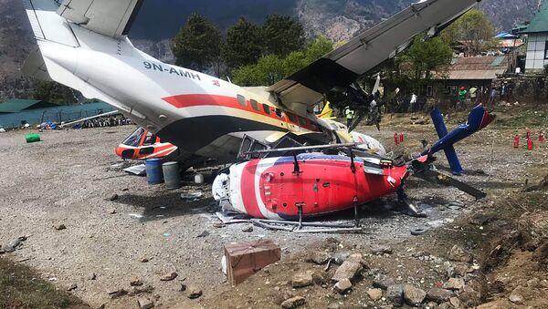 Incidente aéreo en el aeropuerto de Katmandú, Nepal - Sputnik Mundo