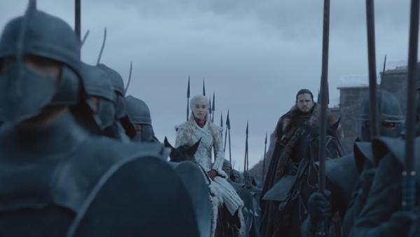 Una captura de pantalla del tráiler oficial de la nueva temporada de la serie Juego de tronos - Sputnik Mundo