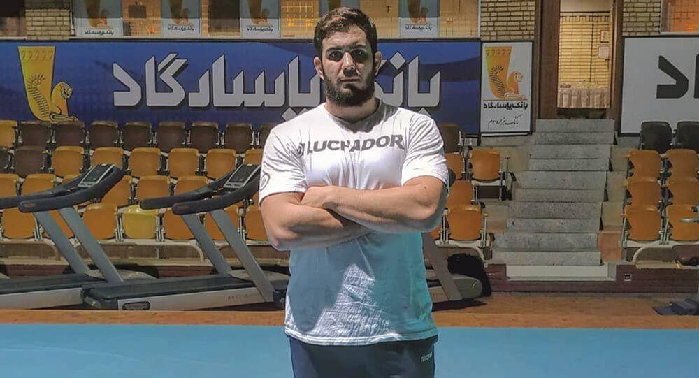 Catriel Muriel, atleta de la selección argentina de lucha libre