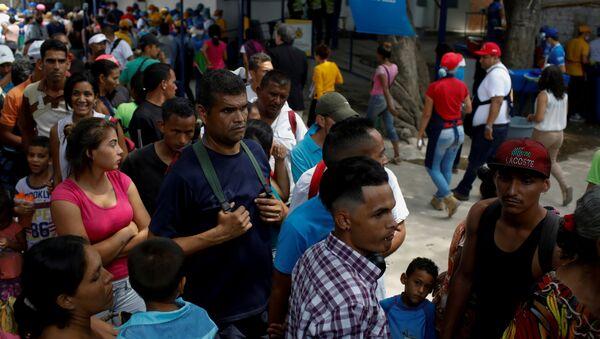 Migrantes venezolanos en Colombia (archivo) - Sputnik Mundo