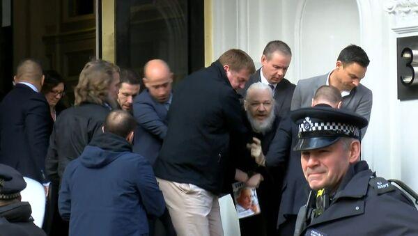 Aresto de Julian Assange - Sputnik Mundo