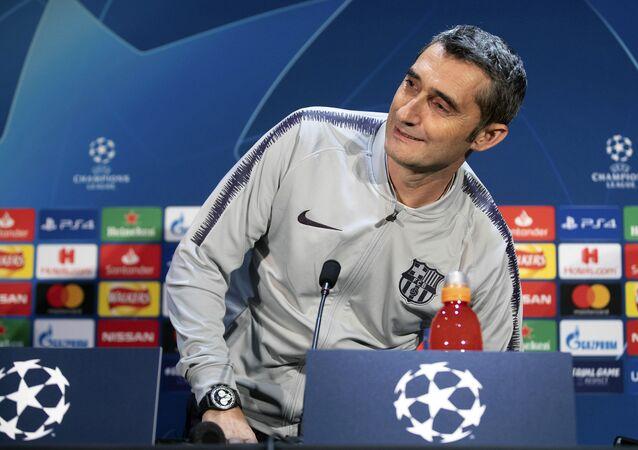 Ernesto Valverde, entrenador de Barça