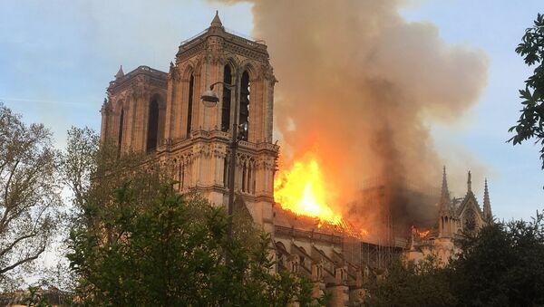 Incendio en la catedral parisina de Notre Dame - Sputnik Mundo