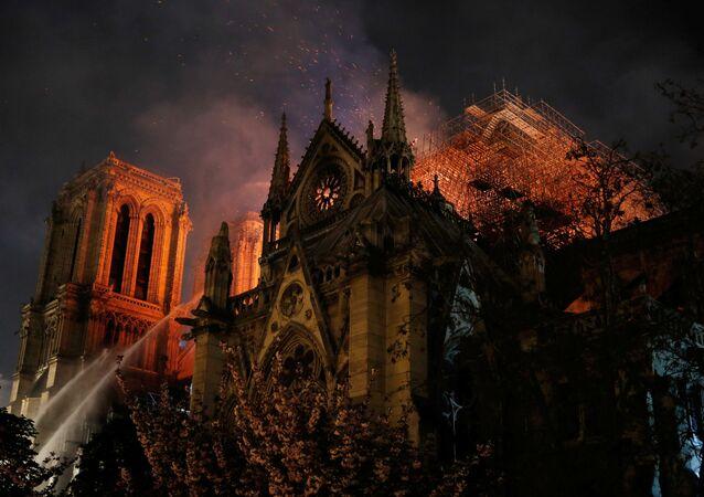 La catedral de Notre Dame de París, en llamas