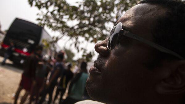 Tapachula, Chiapas. Pedro posa para foto antes de salir en el Vía Crucis cubano rumbo a la frontera norte - Sputnik Mundo