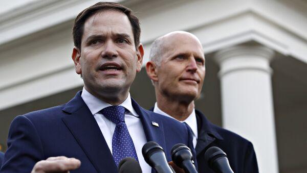 Los senadores estadounidenses Marco Rubio y Rick Scott - Sputnik Mundo