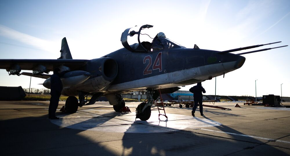 Un avión Su-25SM3 (archivo)