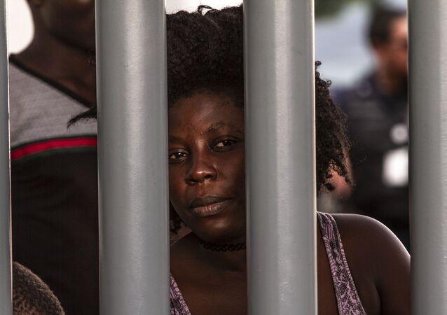 Una migrante cubana